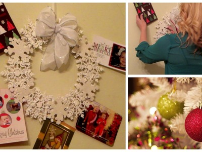 DIY Snowflake Holiday Card Wreath!