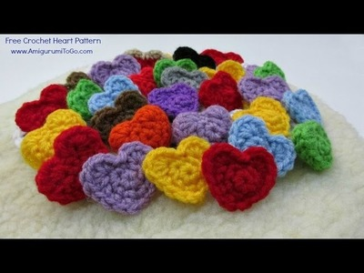 Easy Crochet Heart Tutorial