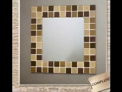 Easy DIY ideas for mirror frame decorations