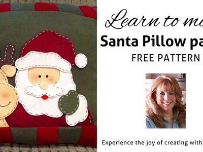 FREE CHRISTMAS CROCHET SANTA PILLOW PATTERN - Part 1 Maggie Weldon Maggie's Crochet