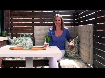How to create an outdoor dining area on a small balcony  - Season 1 -  Ep 14