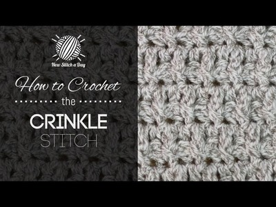 How to Crochet the Crinkle Stitch