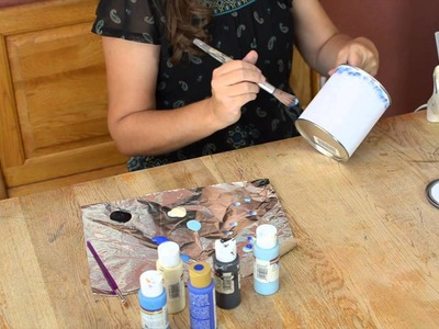 How to Decorate Empty Paint Cans : Themed Kids' Crafts