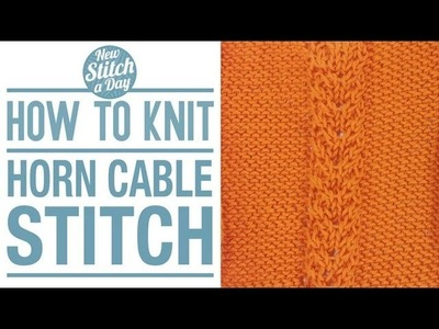 How to Knit the Horn Cable Stitch (English style)