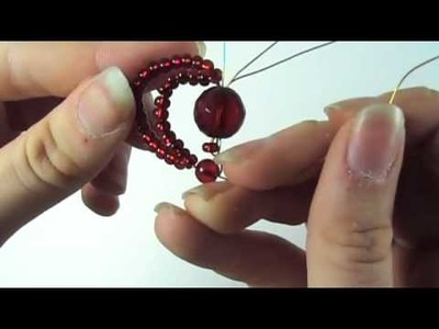 How to Make a Beaded Double Heart Pendant