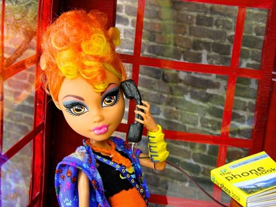 How to Make a Doll Telephone Booth with Telephone & Phone Book