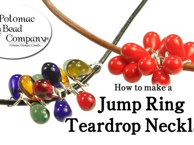 How to Make a Jump Ring Drop Cluster Necklace