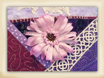 How to make a silk ribbon embroidered gerbera flower