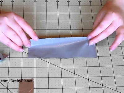 How To Make a Silver Duct Tape Bracelet (Duct Tape Crafts, Duct Tape Tutorial, Duck Tape)