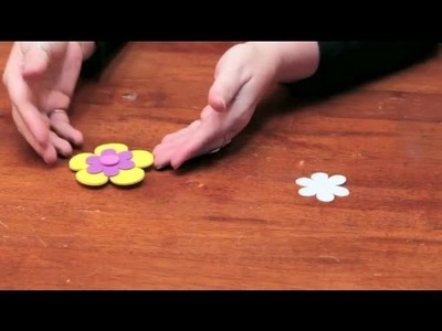 How to Make Roses or Flower Magnets Out of Foam : DIY Crafts