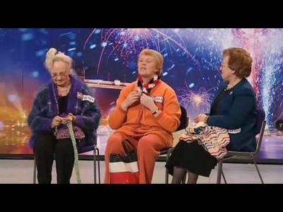 Knit and Natter - Finger Knitting Trio - Britains Got Talent 2009 Ep 4