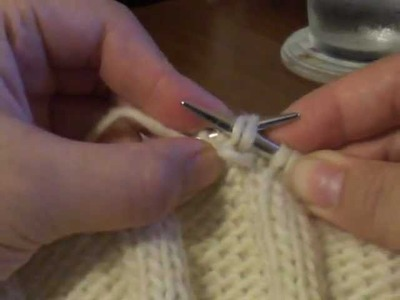 P2tog (Purl 2 Together)-Knitting Decrease Stitch