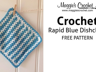 Rapid Blue Dishcloth Free Crochet Pattern - Right Handed