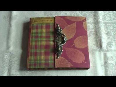 Scrapbook  Curio Mini Album With Tim Coffey Papers