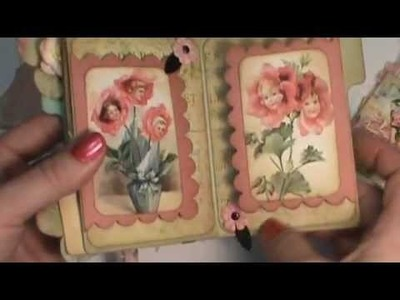 Shabby Chic Flower Fairy File Folder scrapbook album