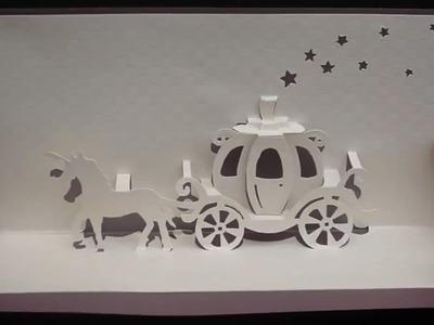 Walt Disney Cinderella Carriage Card Tutorial, Origamic Architecture