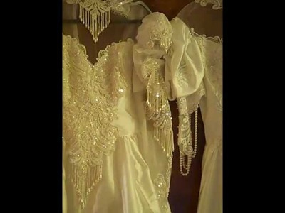 Wedding dresses I bought for appliques and lace trims!