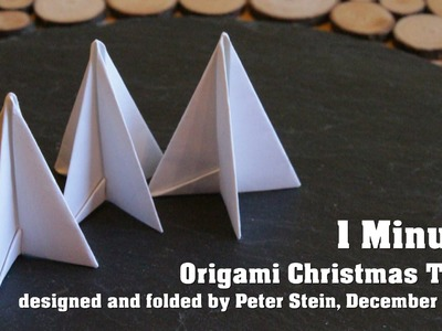 1 Minute Origami Christmas Tree