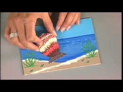 1508-1 Sea shells in a shadow box on Hands On Crafts for Kids