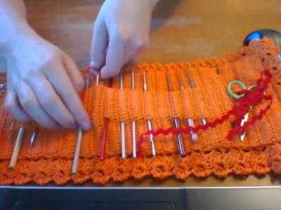A crochet case for hooks