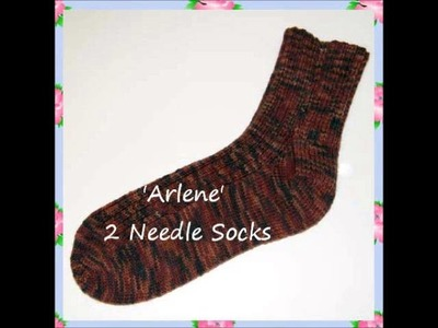 Arlene Ladies Ribbed Socks Worked Flat Top Cuff Down on Two Straight Needles in One Piece and Seamed