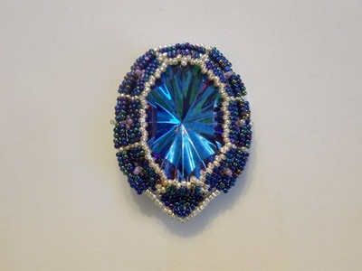 BeadsFriends: Beaded bezel earrings - Plastic crystal bezeled using charlotte beads | Beaded Jewelry