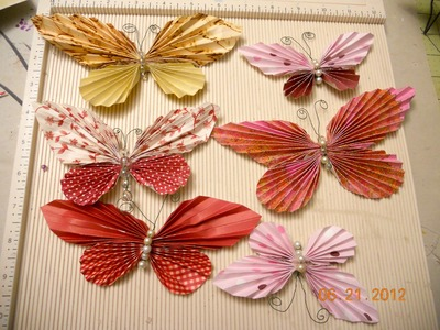 Butterfly made with circles and square scraps