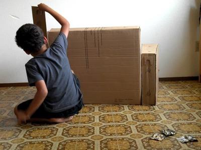 Cardboard Couch cutest babies children ever diy