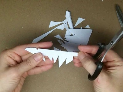 Craft:  Make a Beautiful Easy Paper Snowflake.  Snowflake #4.  Freehand
