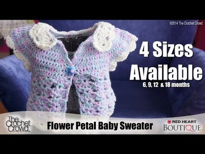 Crochet Baby Flower Petal Sweater Tutorial