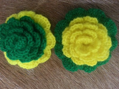 Crochet Flower Tutorial #2 (add petals)