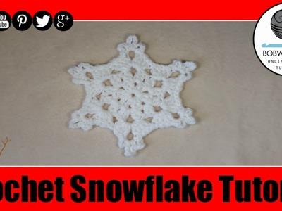 Crochet Snowflake Tutorilal - Mikis Crafty Corner