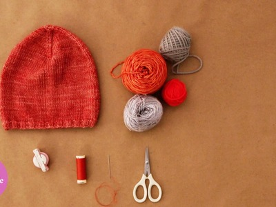Decorative Pom-Pom Beanie - DIY Style - Martha Stewart