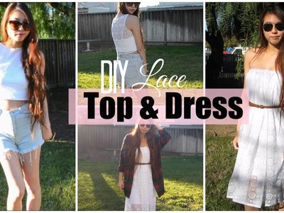 ✂ DIY Crop Lace Top & Dress