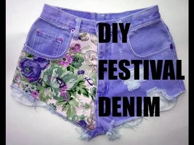 ✂ DIY dip dye festival denim shorts ✂
