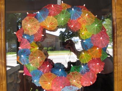 DIY Drink Umbrella Wreath