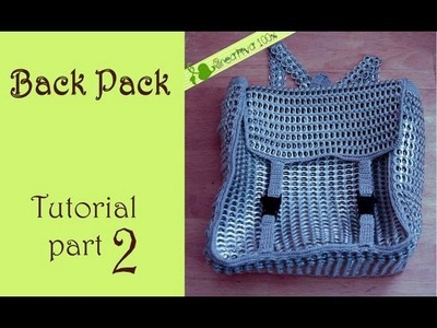 DIY: How to crochet a backpack with aluminum pop tabs part 2