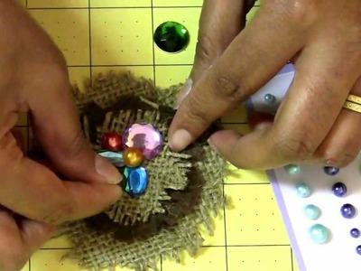 DIY: How to make a Bird Nest Inspired Flower Tutorial