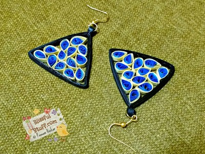DIY - How to make paper quilled earrings, Paper quilling earrings tutorial