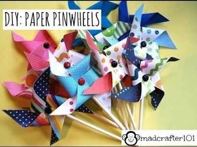 DIY: PAPER PINWHEELS