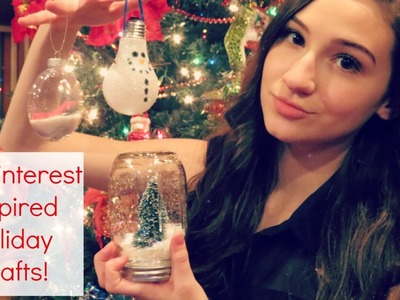 DIY Pinterest Inspired Holiday Crafts: Ornaments & Snow Globe || BeautyChickee