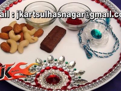 DIY Pooja Thali Decoration - JK Arts 043