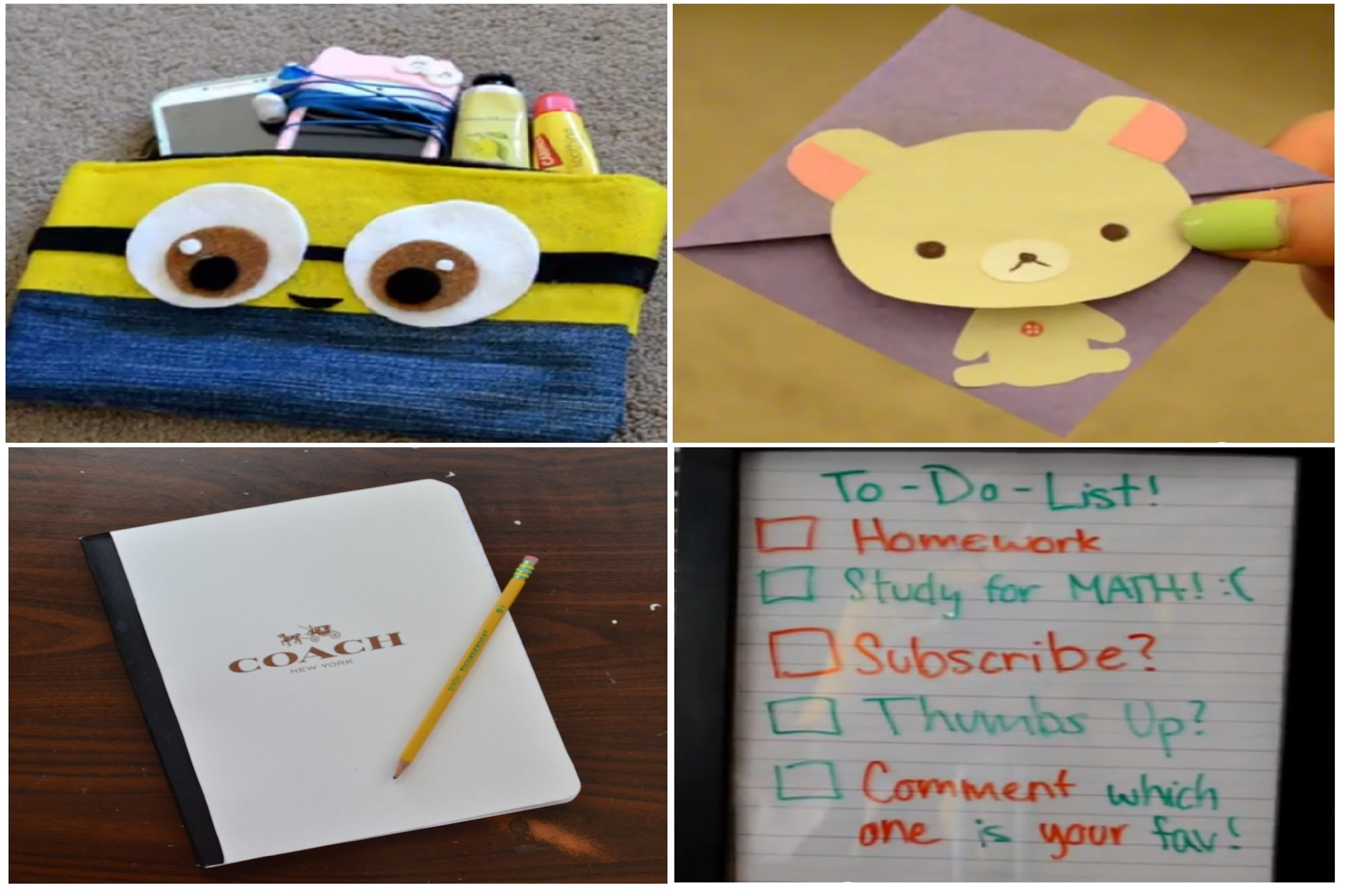 ✂ DIY: Simple Back to School Supplies.Tools