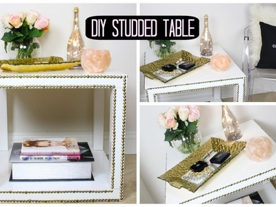 DIY Studded Table! Affordable Room Decor