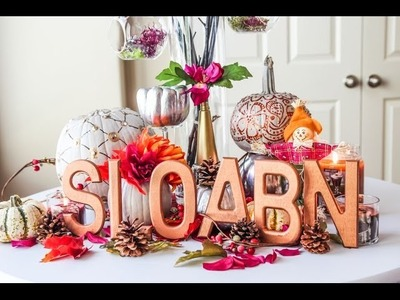 DIY: Thanksgiving Display {Decor}