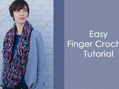 Easy Finger Crochet Tutorial