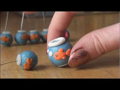 FISH BOWL - Polymer Clay Charm - How To - SoCraftastic
