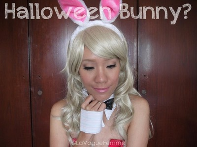 Halloween Series:  Playboy Bunny with DIY Collar & Cuffs