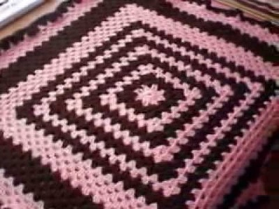Handmade Granny Square Sugar Pop Agfhan Crochet Baby Blanket from Mikey's tutorial