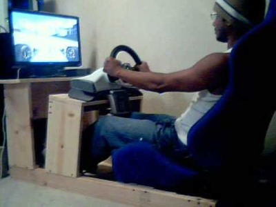 Home made DIY playseat for xbox360 ~~~ game: GRID Race driver
